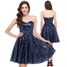 New Short Mini Sequins Cocktail Prom Gown Evening Party Dress Homecoming Dresses