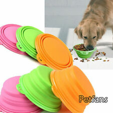 Travel Home Dog Feeder Bowl Cat Pet Silicone Portable Collapsible Feeding Bowl