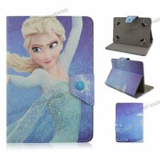 "For 9.7"" 10"" 10.1"" Universal PU Leather Case Cover Tablet PC cartoon frozen elsa"