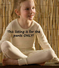HOCOSA Children's Long Underwear Pants - Wool/Silk Blend - natural & colored