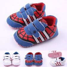 Baby Infant Toddler Boy Bat Soft Sole Sneakers Girl Velcro Crib Shoes size 0-18M