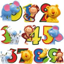 Number Candles Safari Animals Birthday Candle Digit 0-9 Cake Candles