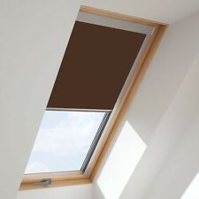 ROLLER BLINDS BLACKOUT FOR ALL VELUX ROOF WINDOWS EASY FIT CHOCOLATE