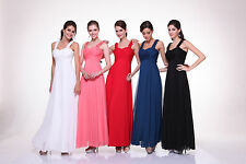 TheDressOutlet Gorgeous Long Chiffon Bridesmaid Dress Thick Straps Empire Waist