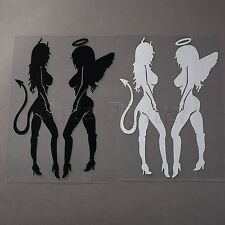 One Pair Sexy Angel & Devil Women Girls Vinyl Car Auto Decal Sticker Truck Decor