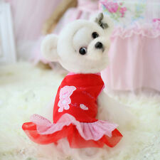 For Teacup Dogs Puppy Coat Chihuahua Red Bear Pet Clothes Dress e174 XXXS XXS