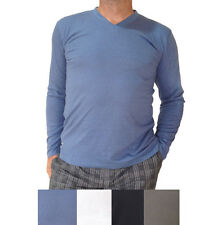 Pack of 2 Mens Bamboo Long-sleeve T-shirts in 4 colours + Free & Fast Postage!