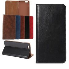 For iPhone Samsung Huawei Wallet Flip Leather Automatic Suction Stand Phone Case