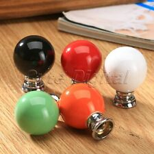 Retro Plain Candy Color Round Drawer Knob Wardrobe Cupboard Cabinet Pull Handle
