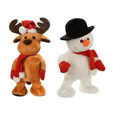 Dancing Singing Reindeer and Snowman Funny Christmas Decoration Animated Toy FS