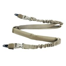 New Outdoor Tactical Single Point Sling Adjustable Bungee Rifle Gun Sling Fine