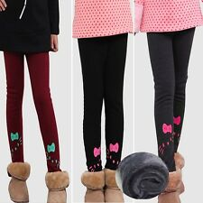 Lovely Kids Girls Winter Warm Leggings Fleece Lined Pants Trousers Pants 4-9Y