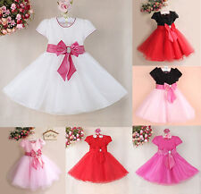Kids Girls Baby Child Princess Party Pageant Evening Wedding Dress Toddler New
