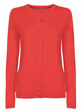 NEW  BODEN DARK NAVY ORANGE PINK CREW NECK  CARDIGAN CARDI SIZE 6 - 22
