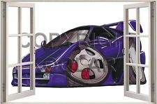 Huge 3D Koolart Window view Lamborghini Diablo Wall Sticker Poster 6