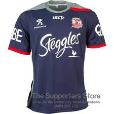 Sydney Roosters NRL 2016 ISC Players Navy Training T Shirt Size S-5XL! In Stock!