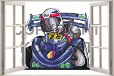 Huge 3D Koolart Window view Go Cart Go Cart Wall Sticker Poster 297
