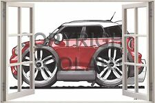 Huge 3D Koolart Window view Mini Countryman Wall Sticker Poster 3100
