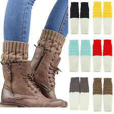 HOT WOMEN LADIES LEG WARMERS SHORT BOOT COVER KNIT BOOT SOCKS CUFFS BLACK FRIDAY