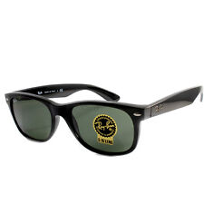 Ray Ban RB2132F 901 901L New Wayfarer Asian Fit Black/Green Sunglasses 52 &55