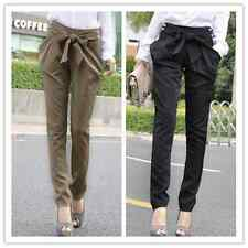 Women's OL casual Bow-knot Harem Skinny Long Trousers  Fashion Slim Comfy Pants