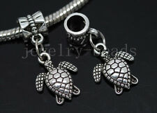 6/30/100pcs Tibetan Silver turtles Bulk Lots Dangle Charms Fit Bracelet Craft