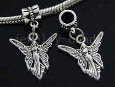 6/30/100pcs Tibetan Silver angel Bulk Lots Dangle Jewelry Craft Charms Bracelet