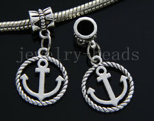 6/30/100pcs Tibetan Silver Peace anchor Bulk Lots Dangle Jewelry Charms Bracelet