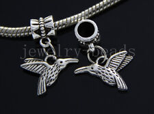 6/30/100pcs Tibetan Silver birds Bulk Lots Dangle Jewelry Craft Charms Bracelet