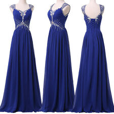 Sexy Bridesmaid Formal Ball Gown Evening Party Cocktail Wedding Long Prom Dress