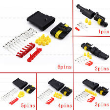 1/5/10 Kit Set Car Waterproof Electrical Wire Connector Plug 1/2/3/4/5/6 Way Pin