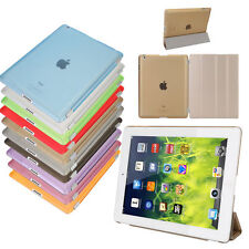 PU Leather Flip Stand Case Smart Cover Film Pen for Apple iPad 2 3 4 Air Mini