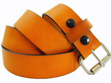 Mens 1 1/2 London Tan Bridle Leather Plain Belt Nickel-Free Made In USA