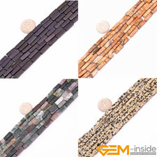 "4x13mm Natural Assorted Stone Cuboid Beads For Jewelry Making Strand 15"" Yao-Bye"