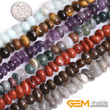 """8x12mm Freeform Potato Nugget Natural Stone Beads For Jewelry Making 15"""" In Bulk"""