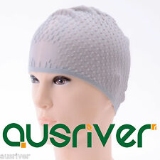 5Colours Adults Silicone Stretchable Swimming Surfing Dive Swim Cap Unisex Hat