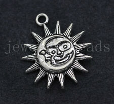 2/10/50pcs Tibetan Silver Beautiful Sun Jewelry Craft DIY Charms Pendant 29x25mm