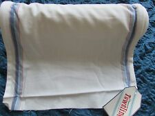 Moda Toweling - White w/Blue/Red Stripe -100% cotton - BTY or you pick length