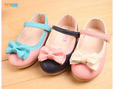 New lovely toddler girls flats shoes princess dress shoes bow-knot size 6-11
