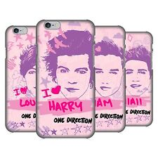 OFFICIAL ONE DIRECTION PINK GRAPHIC FACES HARD BACK CASE FOR APPLE iPHONE PHONES