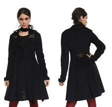 NWT Doctor Who BBC Hot Topic Steampunk Navy Lined Trench Coat - Size XS or XXL