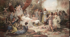 Forest Nymphs by Emanuel Oberhauser (:Stretched Canvas Print of Vintage Art:)