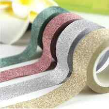 Glitter Washi Sticky Paper Masking Adhesive Tape Label DIY Craft Decorative 5M