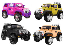 KIDs CHILD RIDE ON CAR 12V TWIN MOTOR JEEP WRANGLER + PARENTS CONTROL NEW