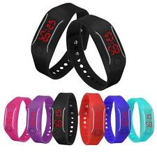 New Mens Womens Silicone LED Watch Date Sports Bracelet Digital Cool Wrist Watch