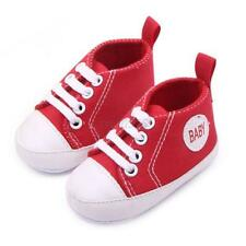 Infant Baby Casual Cotton Crib Shoes Canvas Sneakers Boys Girls Prewalkers W99