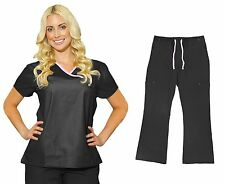 Medgear Womens Scrub Sets Top and Cargo Pants Nursing scrubs for nurses 7870