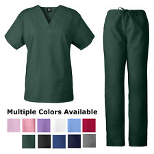Unisex Medgear Nursing Scrub Sets Top and Drawstring Pants Nurse Uniform 7879