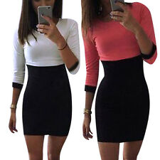 Women Ladies Bodycon Pencil Dress Cocktail Evening Party Casual Mini Short Dress