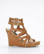 Ann Taylor Allison Buckle Wedge Org.$198.00 New In Box!